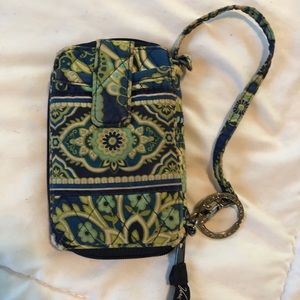 Vera Bradley Rhythm and Blue Wristlet Wallet
